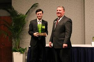 Andy Accepting Green Business Award